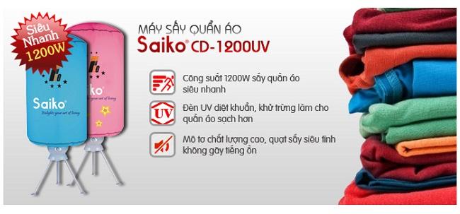 Khả năng sấy khô nhanh và diệt khuẩn của máy sấy quần áo Saiko CD-1200UV